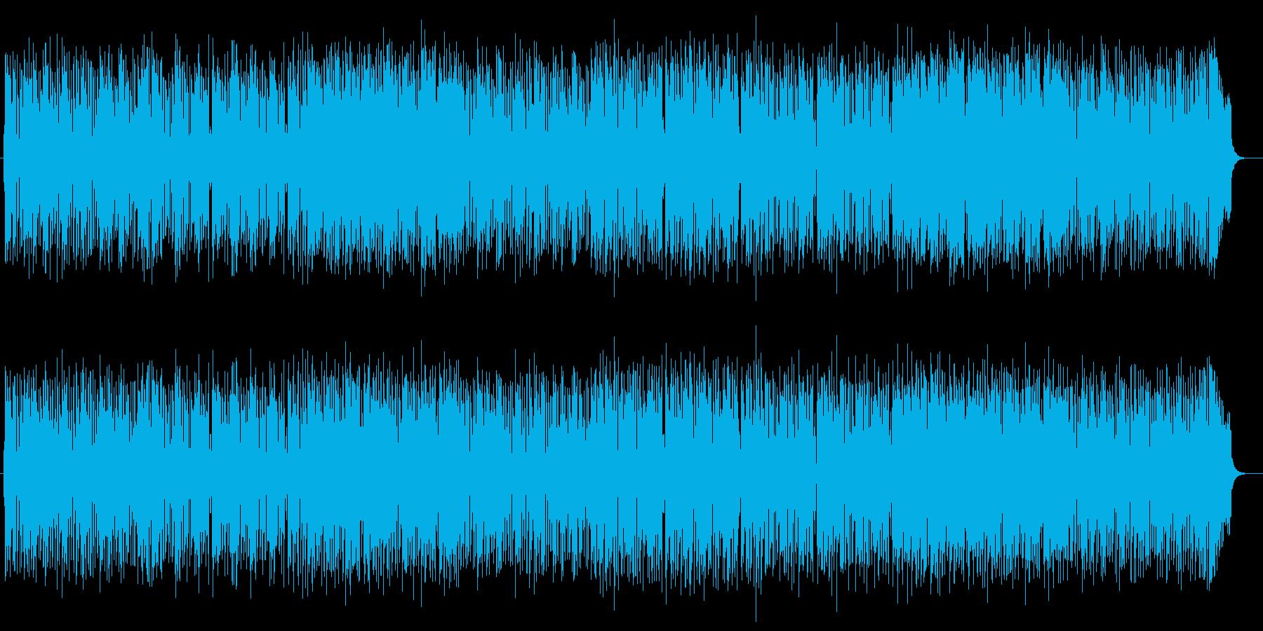 快適で心地よいミュージックの再生済みの波形