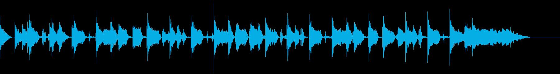 場面転換、ラジオ向けのおしゃれなジングルの再生済みの波形
