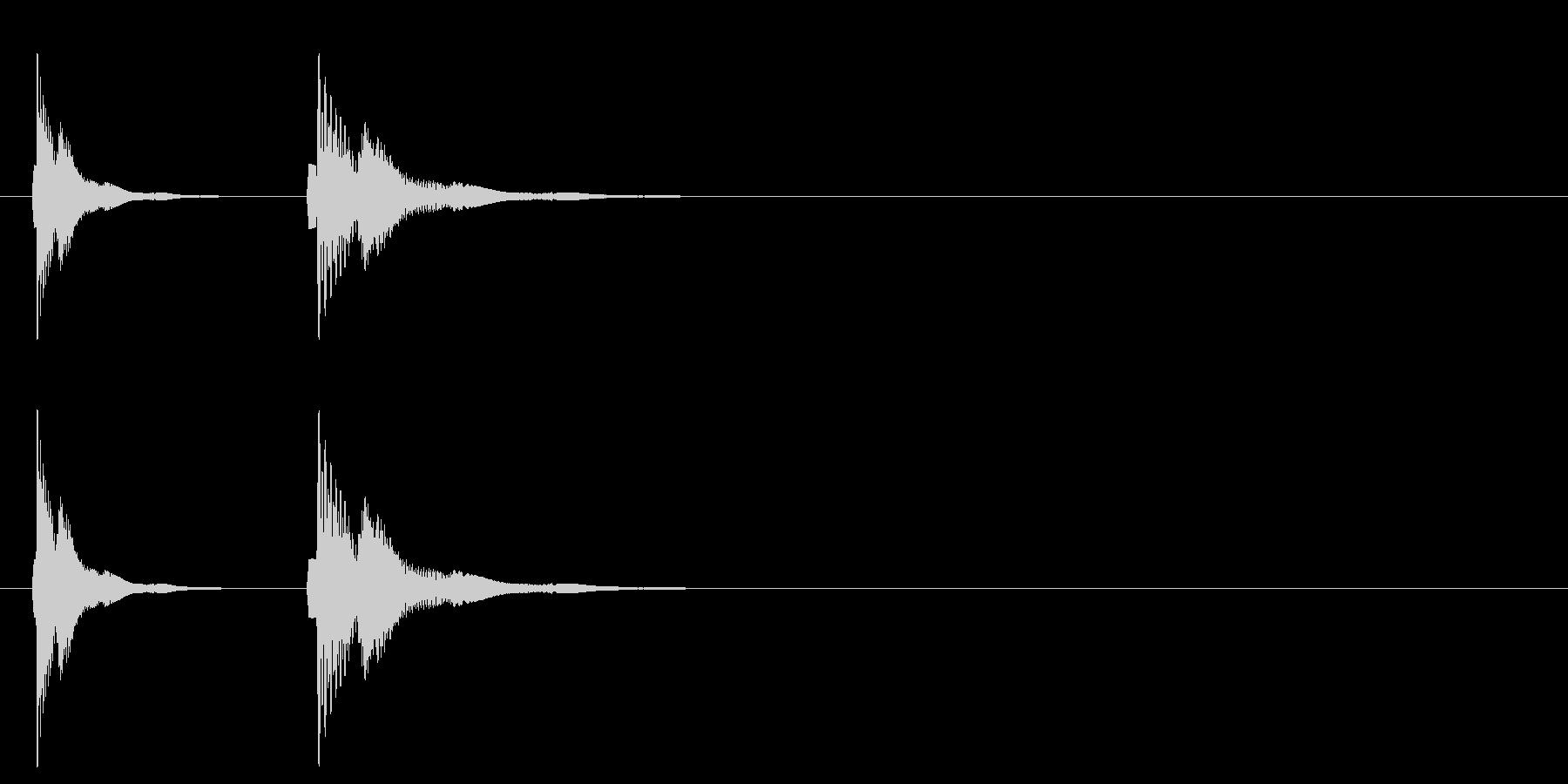 コミカル アクション ボタン ピコの未再生の波形