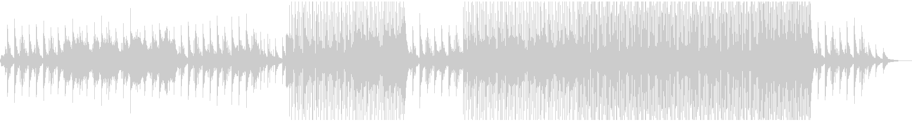 優しいピアノとストリングスのプレリュードの未再生の波形