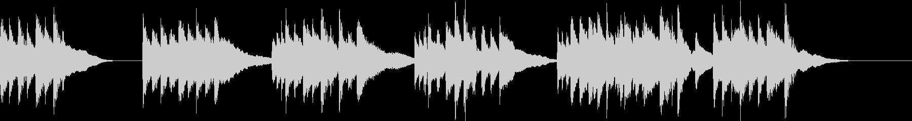 リラックスしたピアノのメロディ 30秒の未再生の波形