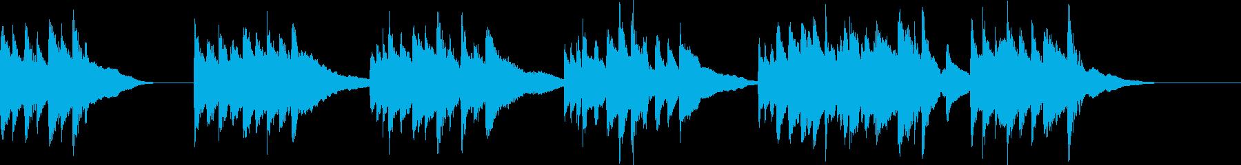リラックスしたピアノのメロディ 30秒の再生済みの波形