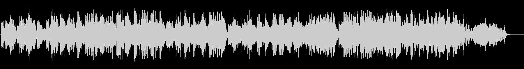 優美なハープのアンビ系BGの未再生の波形