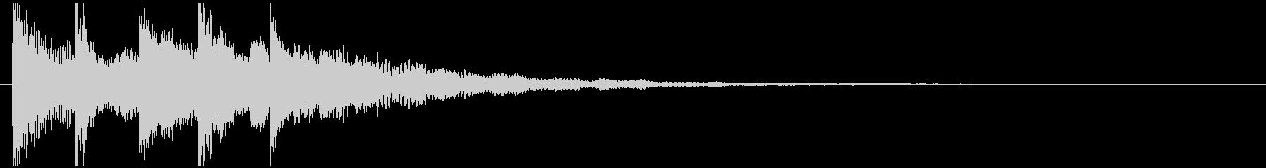 ページをめくる効果音の未再生の波形