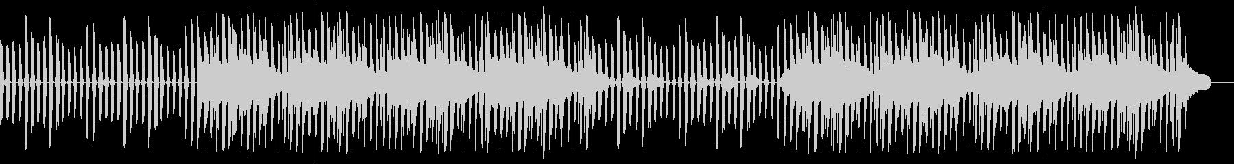 ミニマル、ハッピー、シンセ、ドラムの未再生の波形
