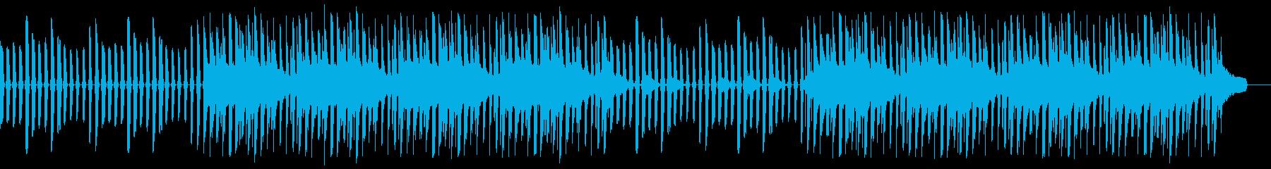 ミニマル、ハッピー、シンセ、ドラムの再生済みの波形
