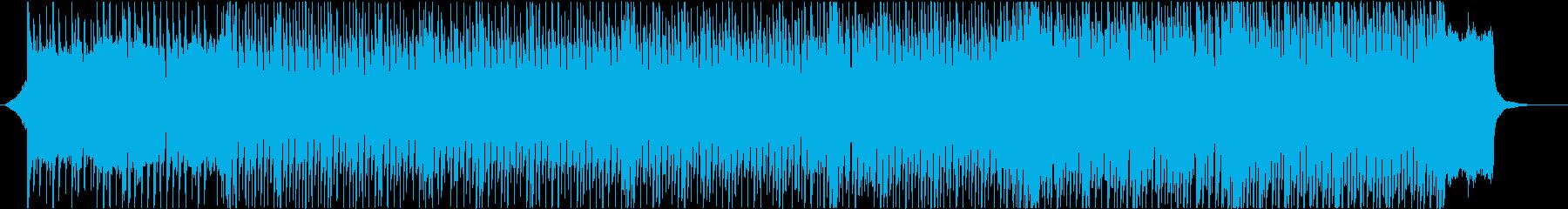 明るく希望的で楽しい雰囲気のテクノポップの再生済みの波形