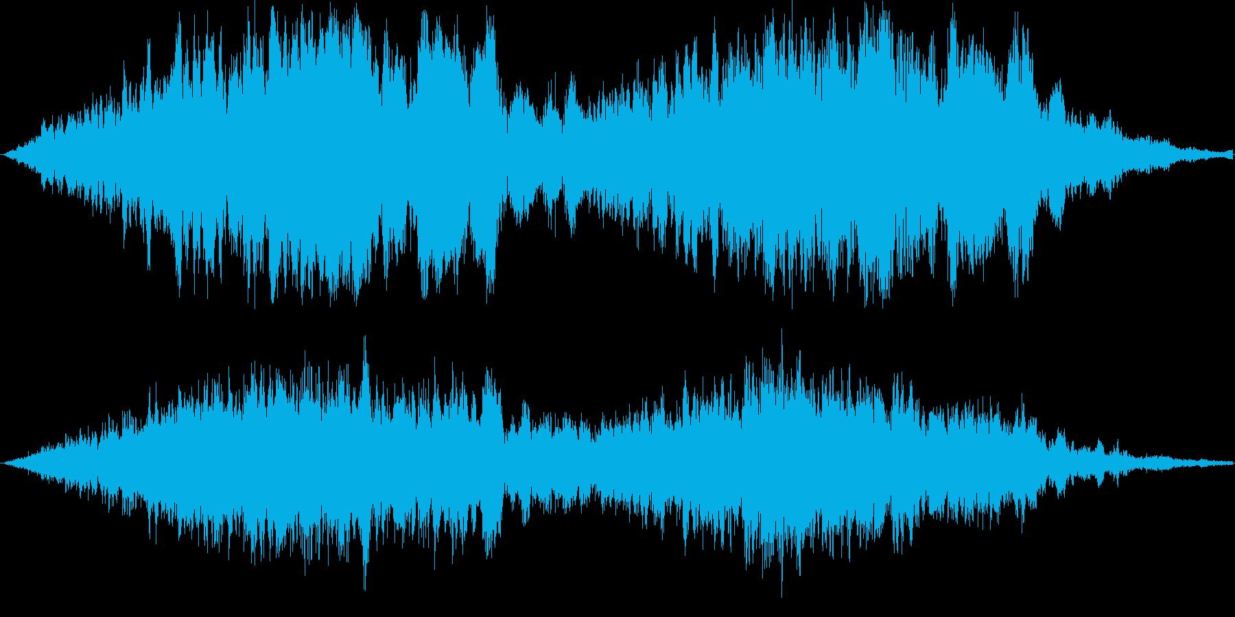 不気味な感じの再生済みの波形
