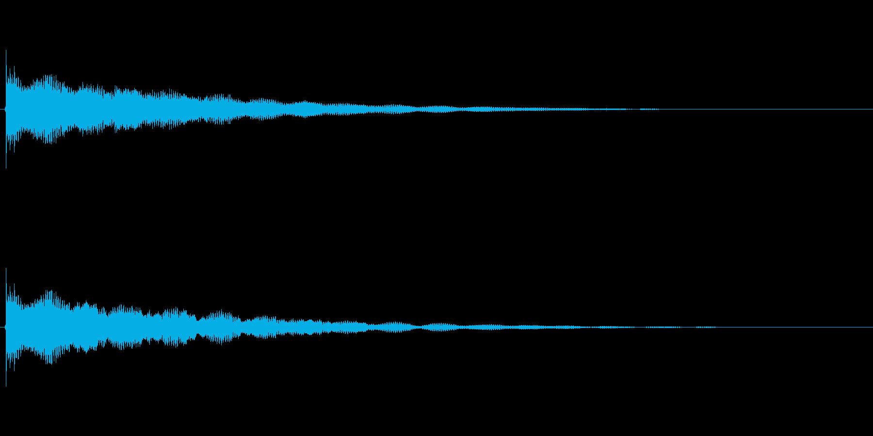 鐘の音ですの再生済みの波形