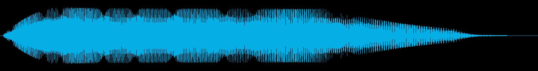 悪い結果、しりすぼみの結果のがっかり音の再生済みの波形