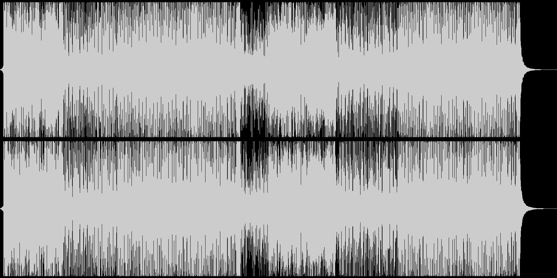 トロピカルで明るいハウスの未再生の波形