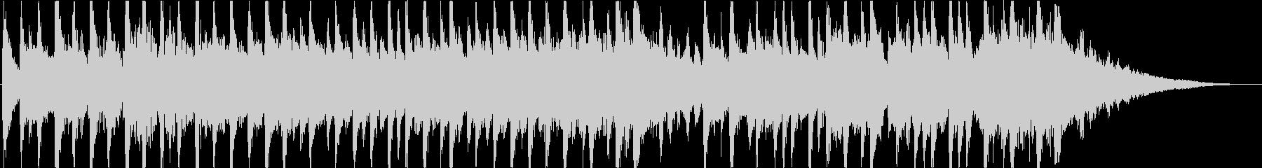 明るい透明感のあるマリンバ曲映像にの未再生の波形