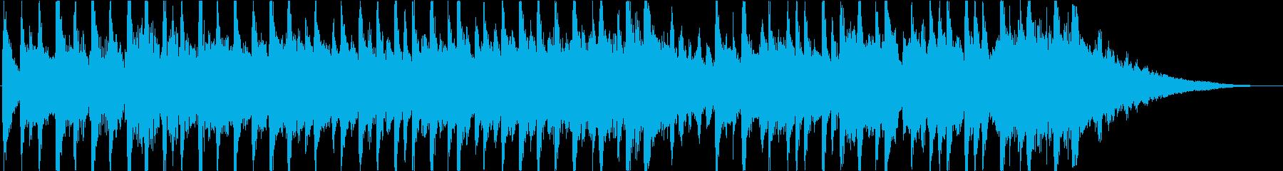 明るい透明感のあるマリンバ曲映像にの再生済みの波形