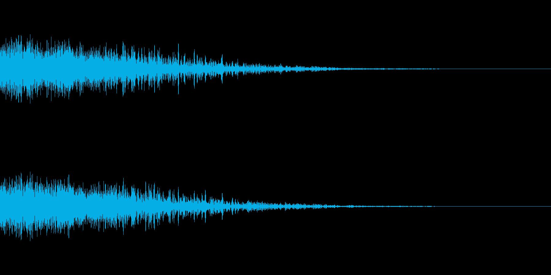 [バシューン]キャラ死亡・失敗の再生済みの波形