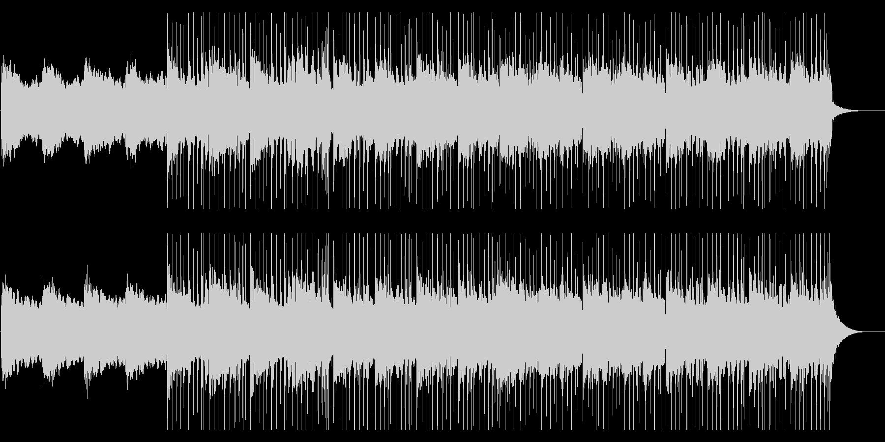 エレクトリックピアノを使用したチル系の曲の未再生の波形