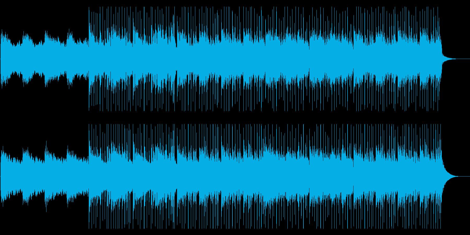 エレクトリックピアノを使用したチル系の曲の再生済みの波形