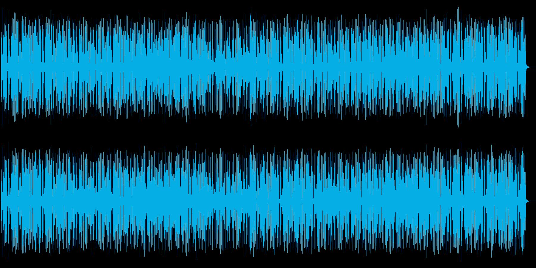 活気あるポップミュージックの再生済みの波形