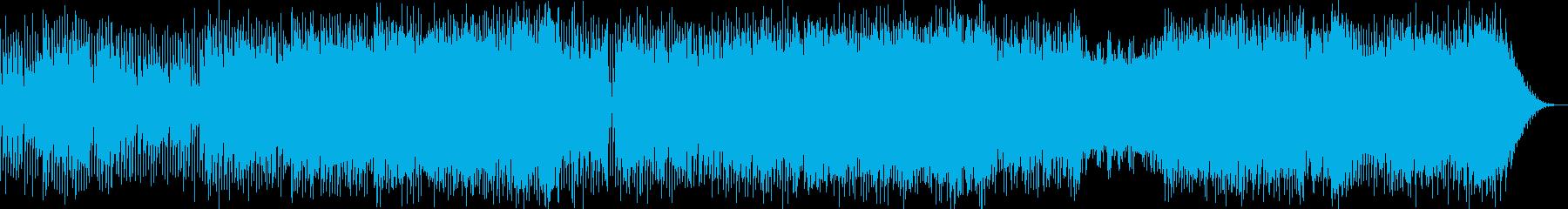 冬イメージのポップ系インストの再生済みの波形