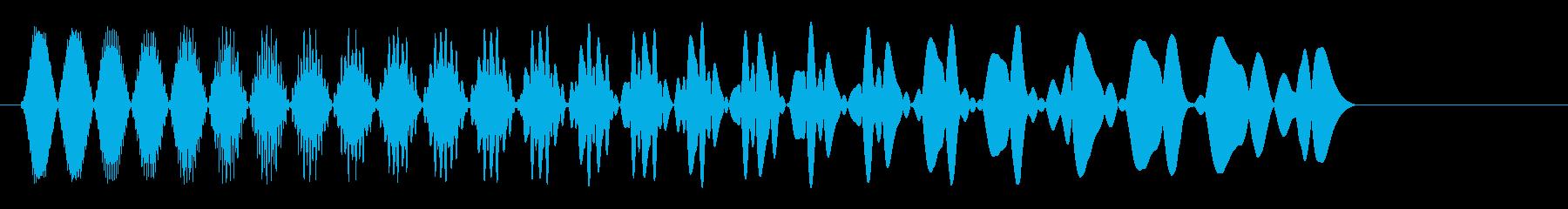 ピュウン!(シンプルな軽い発射音)の再生済みの波形