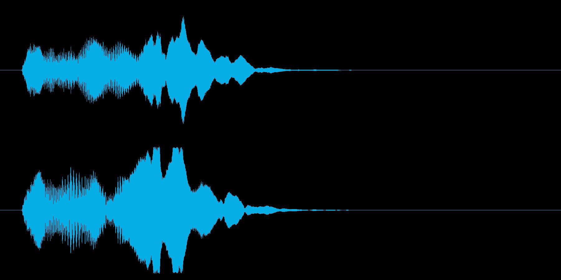 邦楽_ワイプ用_尺八アクセントの再生済みの波形