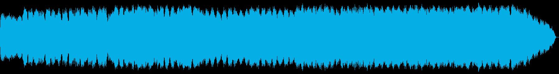 哀愁ある笛のゆったりとした音楽の再生済みの波形