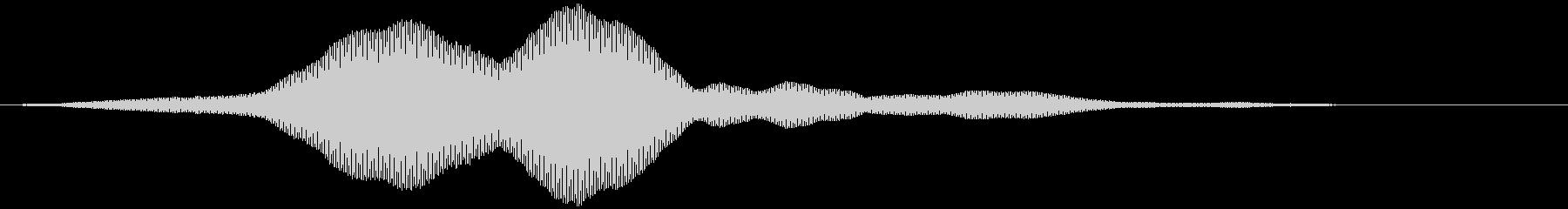 決定・ソフト・神秘的・未来的・フォーンの未再生の波形