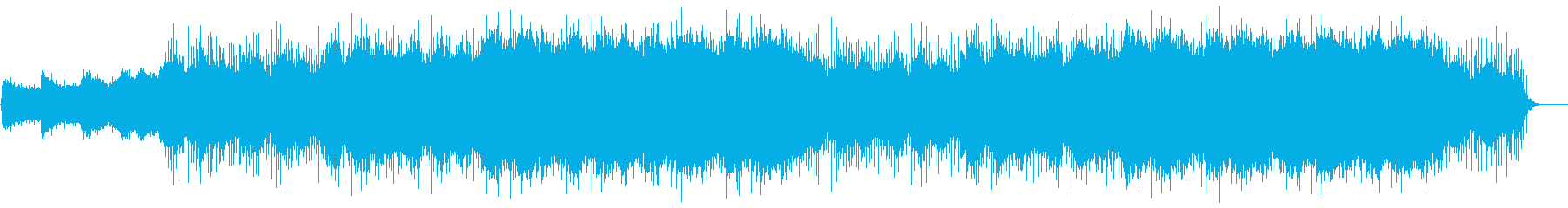 宇宙を漂うようなリラクゼーション音楽の再生済みの波形