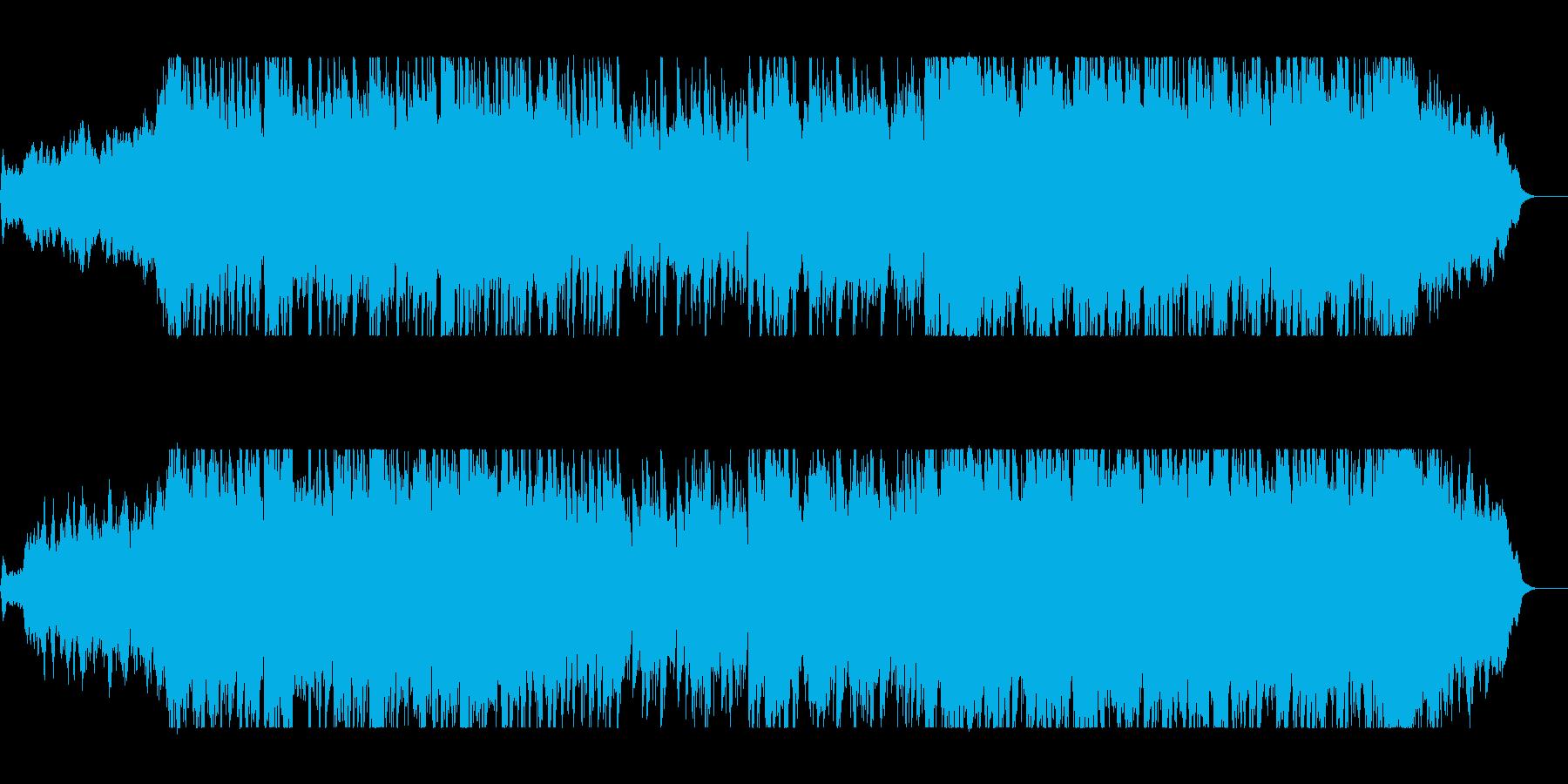 壮大で広がりのあるオーケストラの曲の再生済みの波形