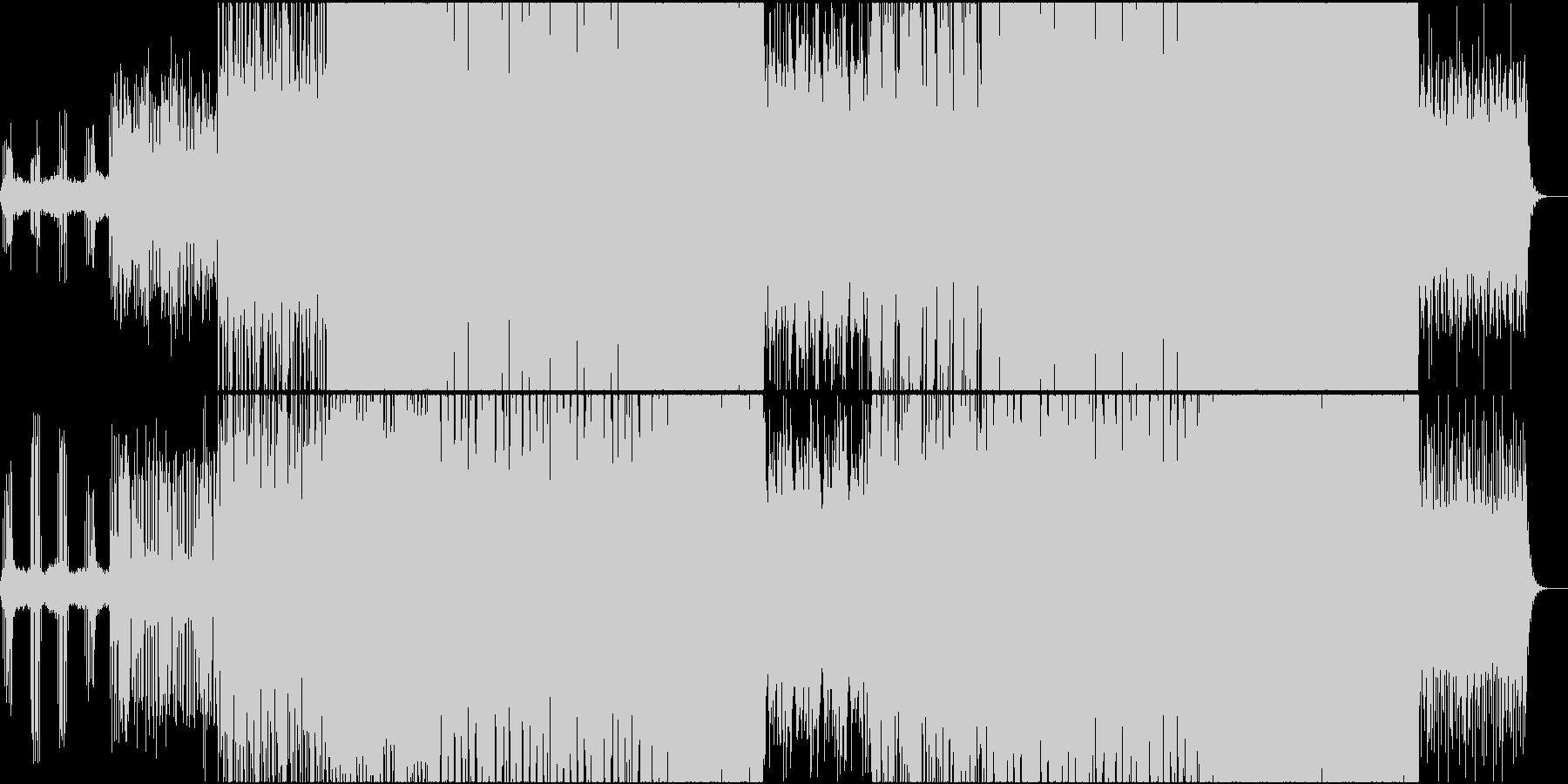 ゲームをイメージしたサイバーオーケストラの未再生の波形