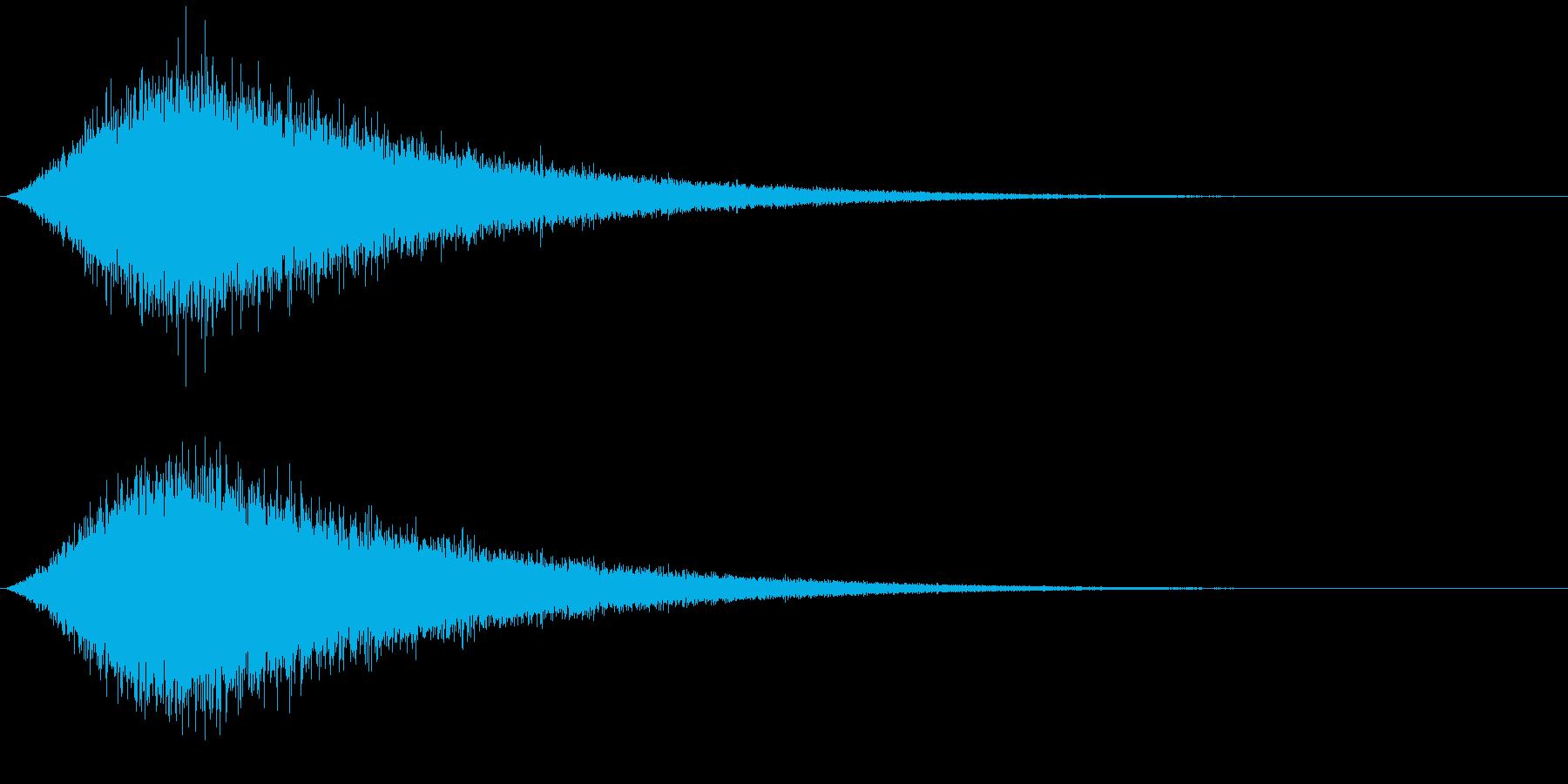 SFX 砂をかけるようなFXの再生済みの波形