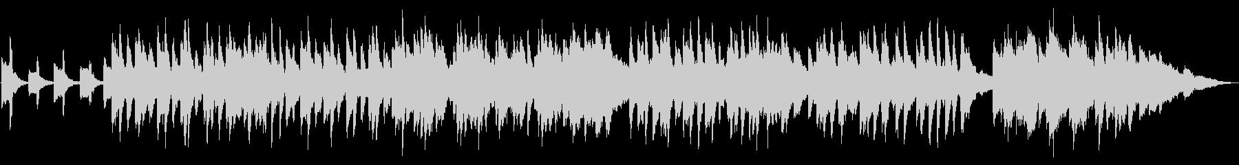 怪しい夜のハロウィンパーティのピアノ曲の未再生の波形