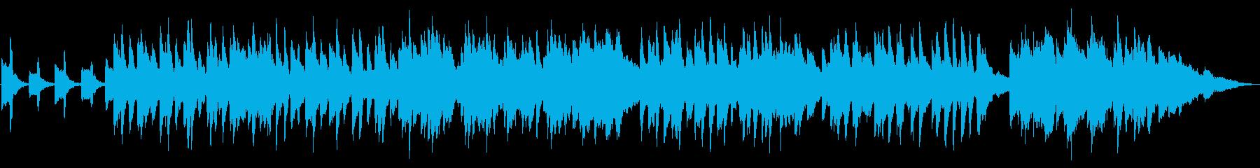 怪しい夜のハロウィンパーティのピアノ曲の再生済みの波形