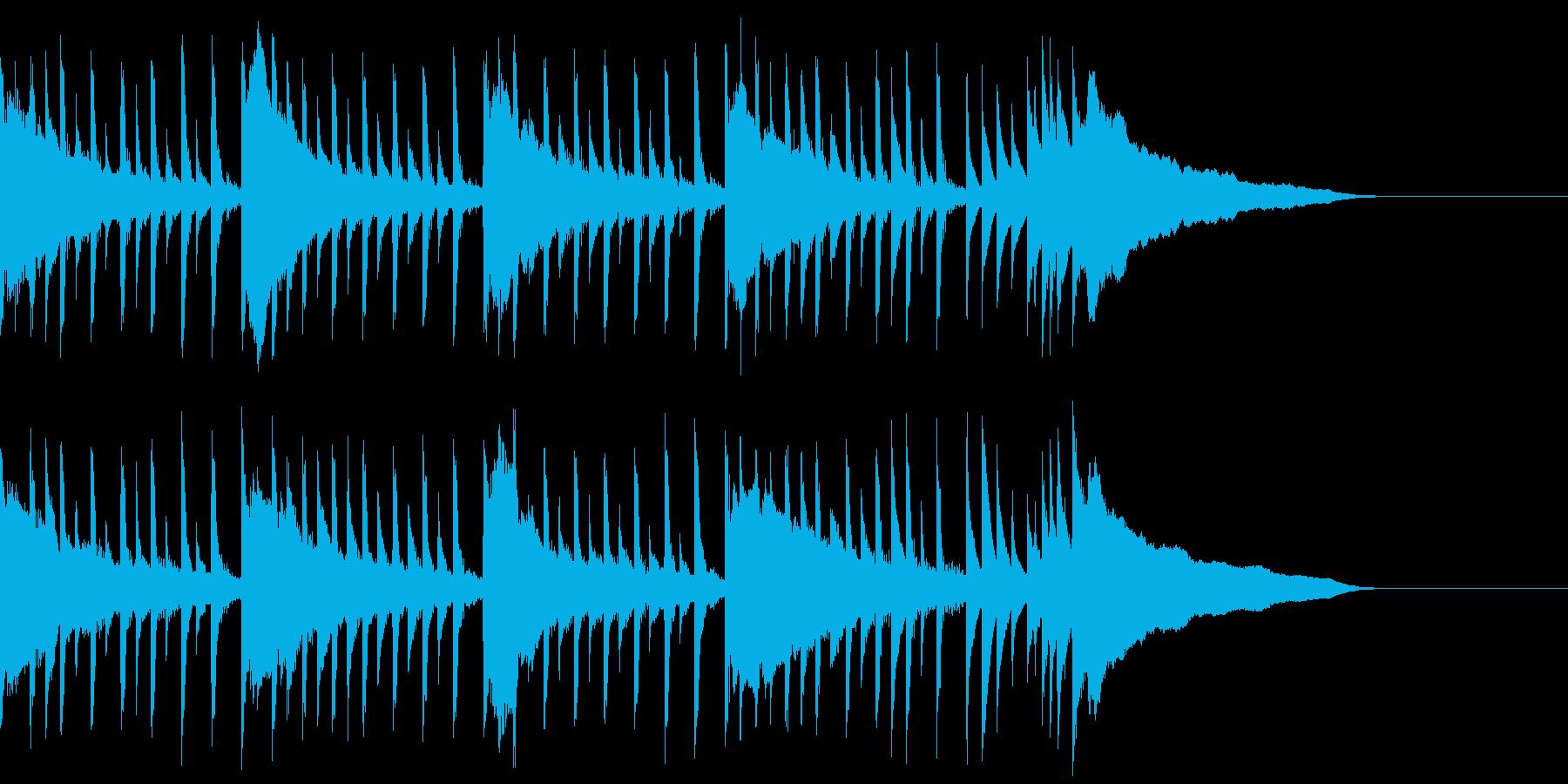 【爽やか】わくわく、感動、ストリングスの再生済みの波形
