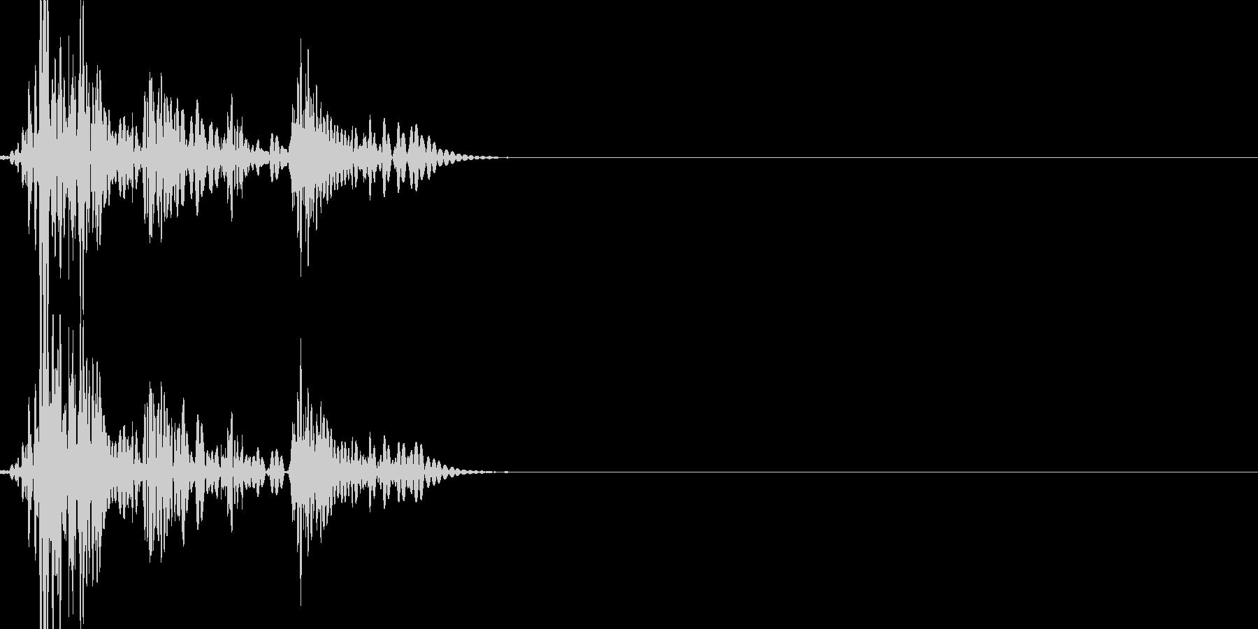 ドカボカッ(打撃の連続攻撃)の未再生の波形