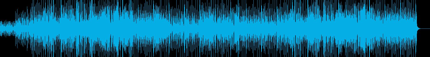サンゴ礁に群れる熱帯魚たちを表現した曲の再生済みの波形