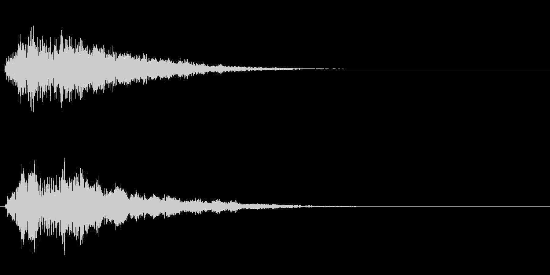 ポキュン(操作音)の未再生の波形