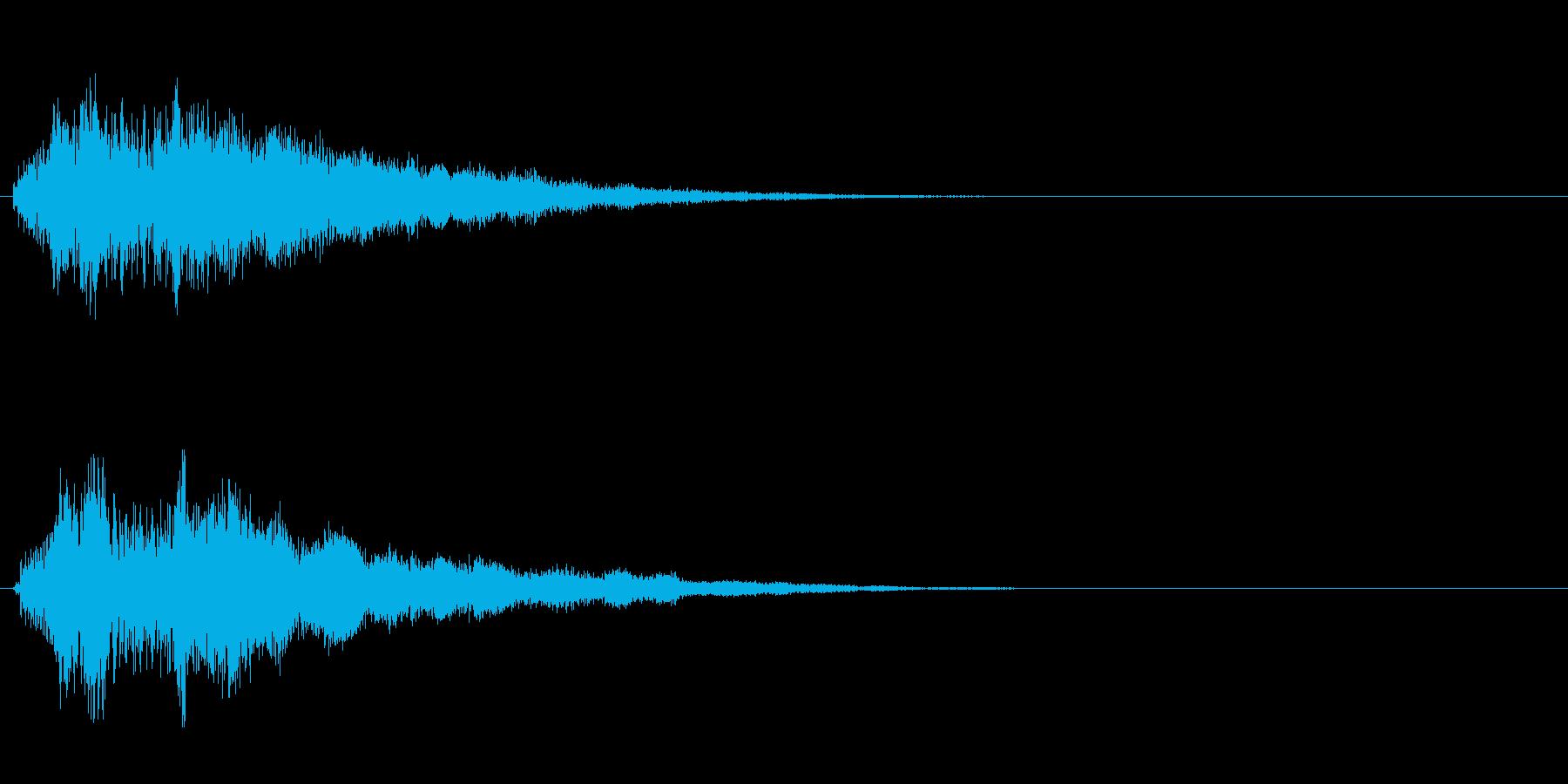ポキュン(操作音)の再生済みの波形