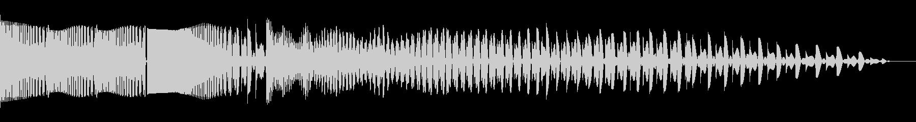 ビッグエレクトロザッパースワイプ3の未再生の波形