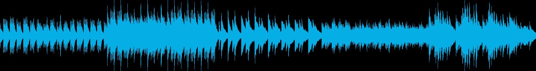 透明で美しいピアノバラード(ループ)の再生済みの波形