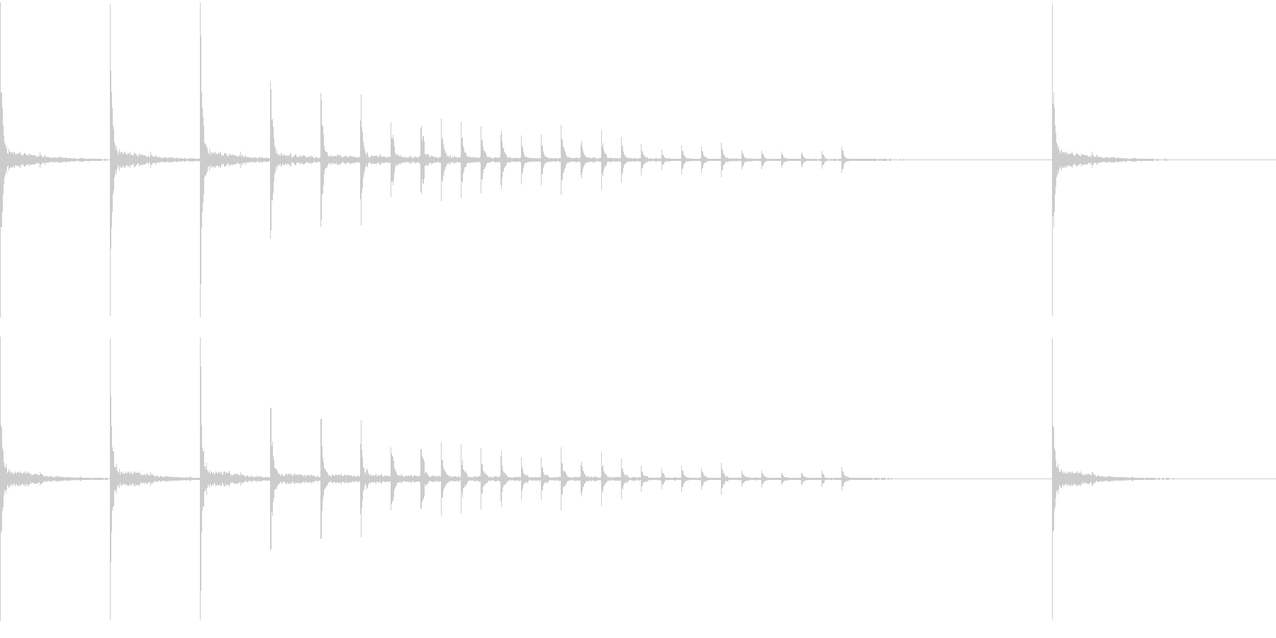 和風の拍子木によるジングルの未再生の波形