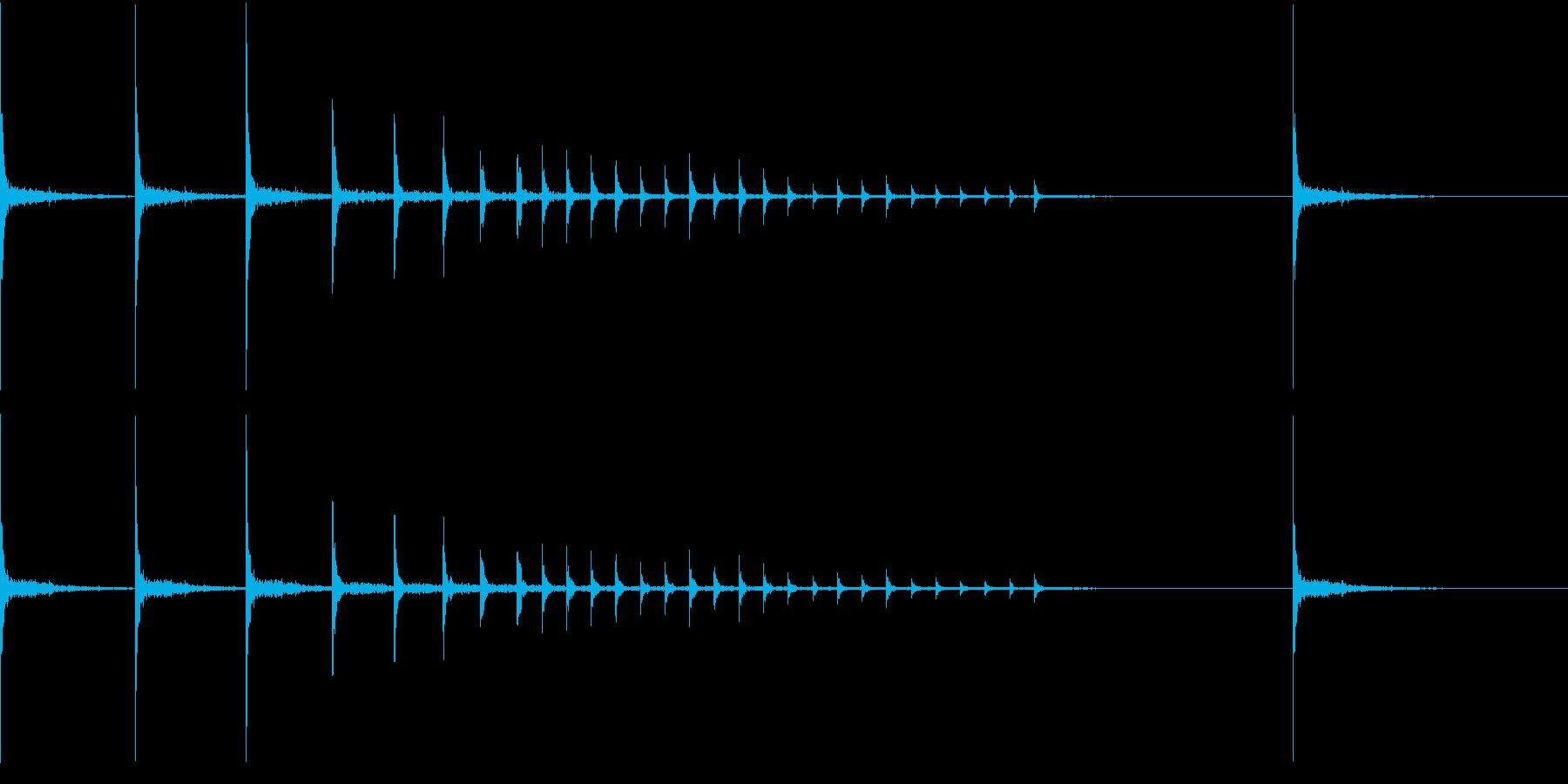 和風の拍子木によるジングルの再生済みの波形