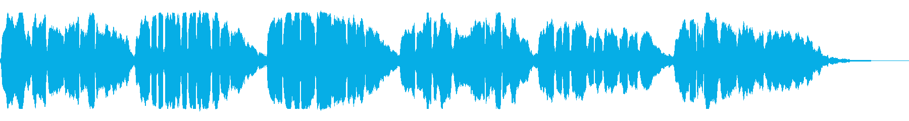 アコーディオンソロの「かごめかごめ」の再生済みの波形