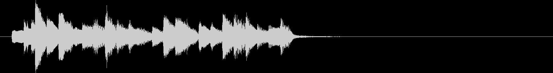愉快で明るいピアノソロ ジングルの未再生の波形