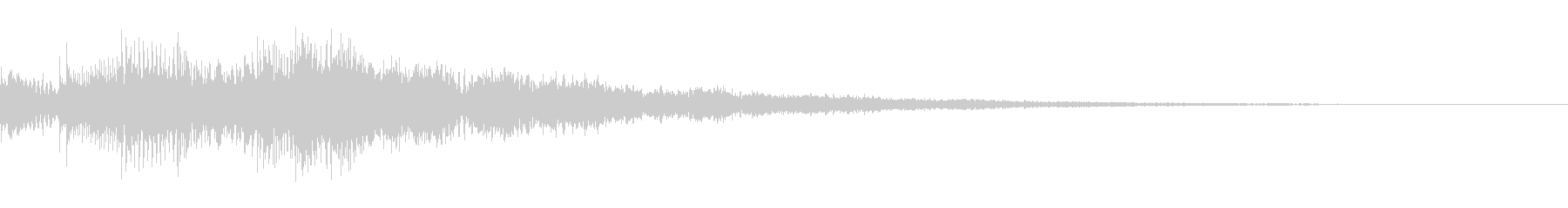 注意喚起音の未再生の波形