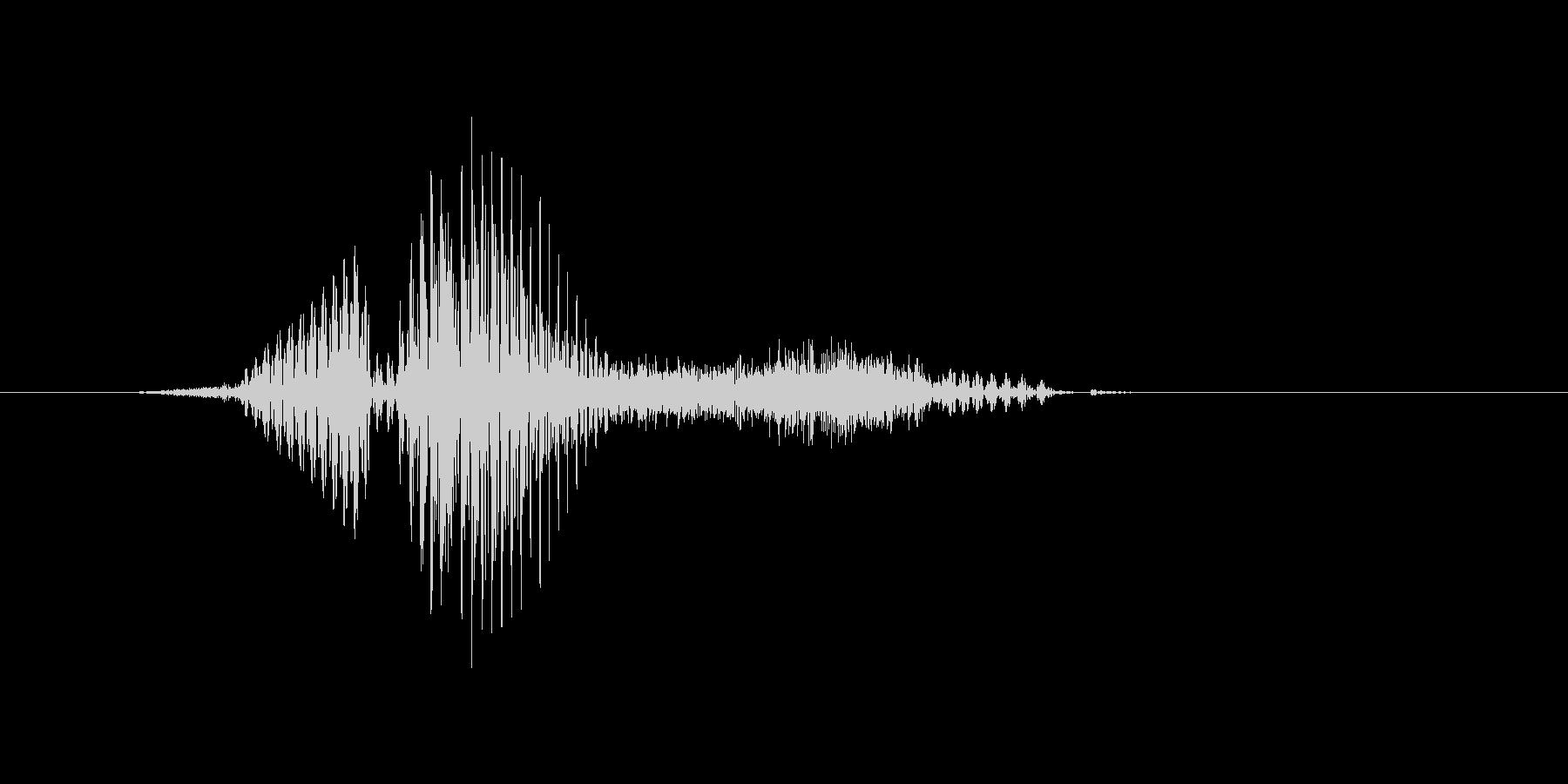 フラッシュの未再生の波形