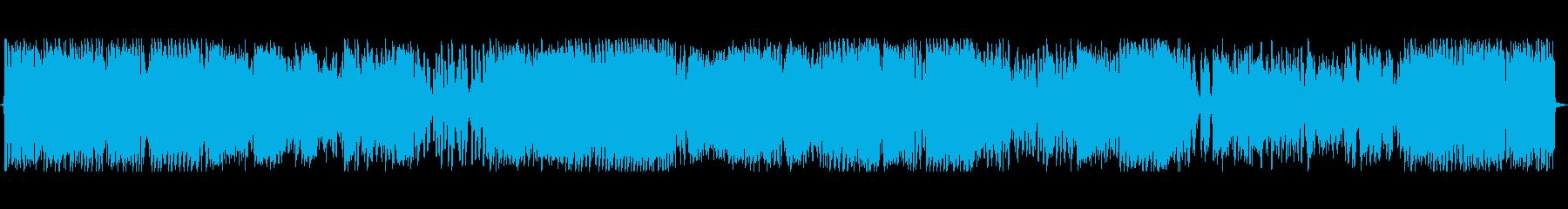 激しいビートのジングルの再生済みの波形