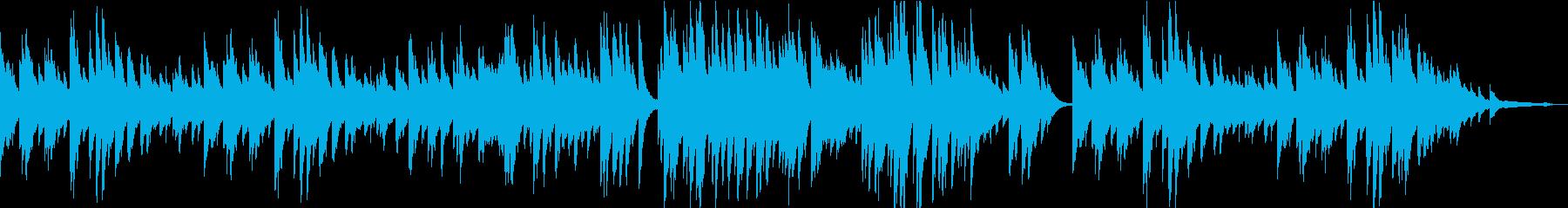穏やかで優しいピアノBGMの再生済みの波形