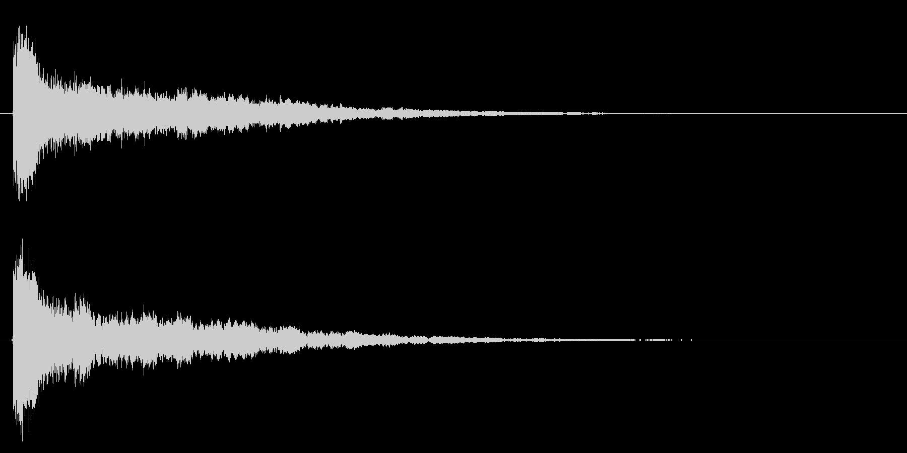 決定音/SF/シューティングゲームの未再生の波形