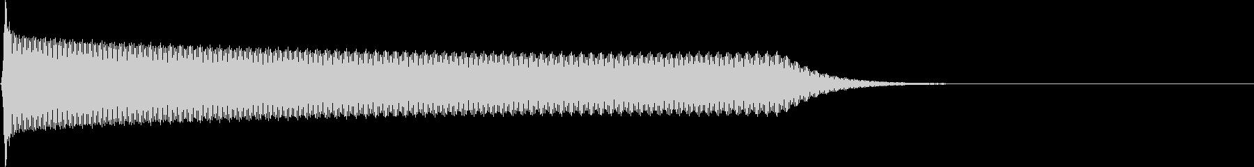 選択音 決定音 シンプル A04の未再生の波形
