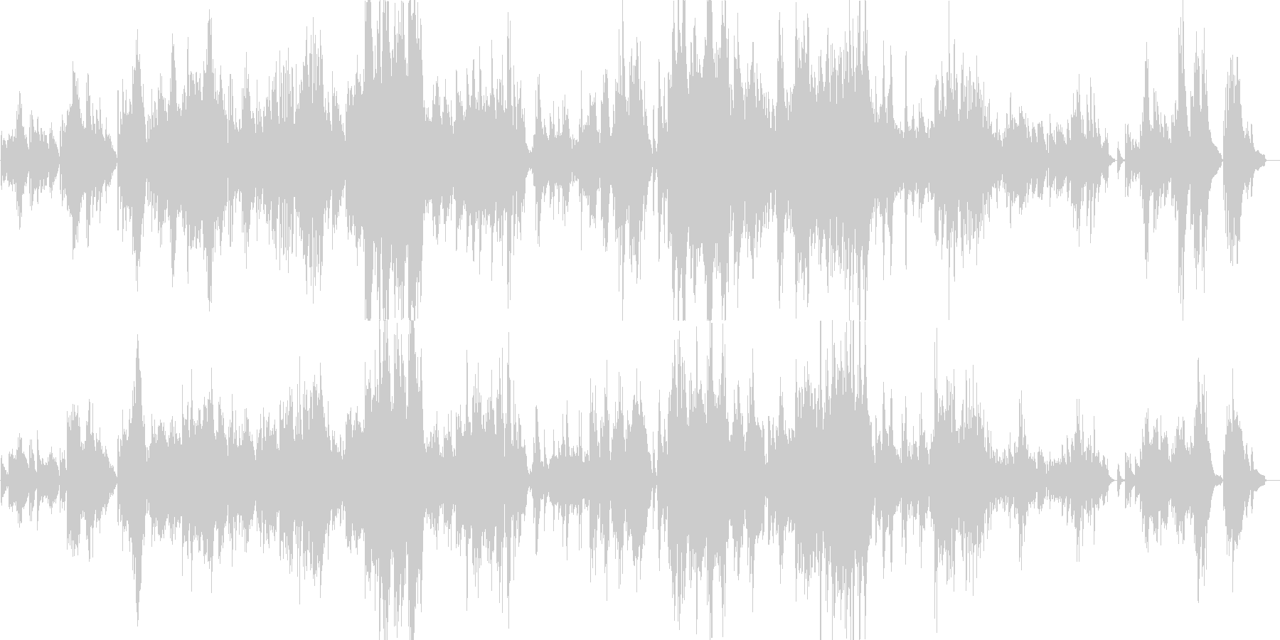 予感を感じさせるピアノバラードの未再生の波形